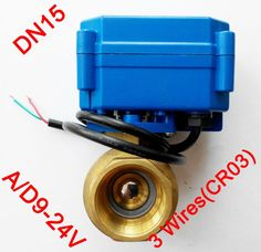 "28.13$  Watch here - http://aligga.shopchina.info/go.php?t=1938798889 - ""1/2"""" Electric valve Brass, AC/DC9-24V electric motor valve with 3 wires(CR03), DN15 Electric valve for Air conditioning fan coil"" 28.13$ #buyininternet"