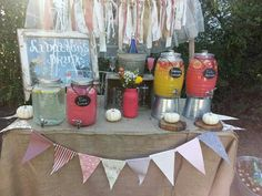 Stephanie baby shower. Drink table