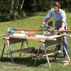 Adapt your sawhorses to make workbenches, scaffolding supports, cutting surfaces, outfeed tables, paint racks and other useful helpers in your shop or garage.