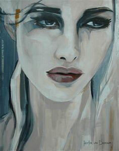 """Saatchi Online Artist: Hesther Van Doornum; Acrylic, 2011, Painting """"White Swaen (sold)"""""""