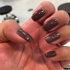 Beautiful gel manicure using Iced Coffee Gelegance and Smokey Bronze Gelegance on @monica_h13 :sparkles::sparkles::sparkles: