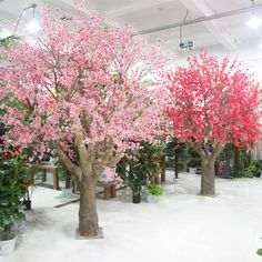 ideas tree decorations wedding indoor for 2019 Fake Trees, Artificial Plants And Trees, Indoor Trees, Artificial Tree, Indoor Plants, Peach Blossom Tree, Blossom Trees, Tree Decorations, Wedding Decorations