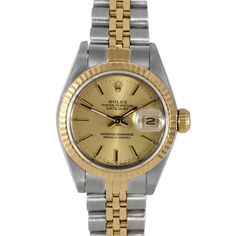 Used Pre-owned Rolex Women's 18k Steel Datejust Watch