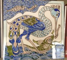 Çini Kuşlu Balıklı Pano my work Tile Art, Tiles, Western Art, Ceramic Artists, Clay Projects, Middle Ages, Natural History, Design Crafts, Mosaics