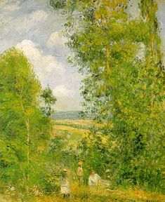 Resting in the Woods at Pontoise Camille Pissarro