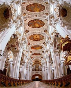 St. Stephens Cathedral, Passau, Germany. which houses the world's largest Cathedral organ