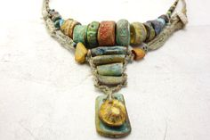 Reserved for Theresa 3 Artisan Necklaces hemp by greybirdstudio, £350.00