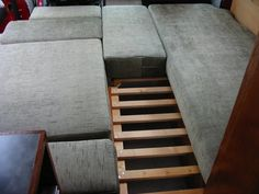 DIY RV Sofa Bed Designed by Ian and Mad Mumsie - One common downside of RV sofa beds has always comfort. There is some kind of engineering limitatio - Diy Sofa, Rv Sofa Bed, Sofa Seats, Bed Mattress, Couches, Campervan Bed, Camper Beds, Camper Van, Sofa Bed Design