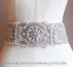 Crystal Sash, Wedding Sash