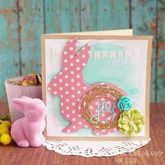 Easter Bunny card-Lovable Bunny die-Sizzix
