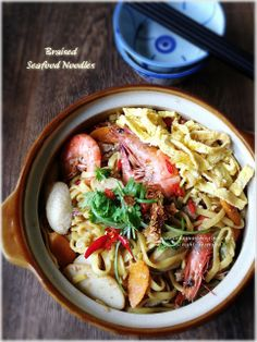 Cuisine Paradise | Singapore Food Blog | Recipes, Reviews And Travel: Braised Seafood Noodles