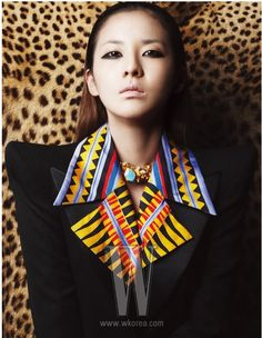 Dara from 2NE1 in W Korea magazine #kpop wow how makeup can really change the way you look.