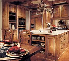 Kitchen Cabinets Knotty Alder rustic kitchen - the knotty alder cabinets and natural stone floor