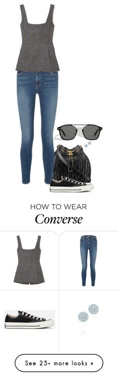 """""""Highway."""" by foreverforbiddenromancefashion on Polyvore featuring Chanel, GRLFRND, Georgia Alice, Converse and Tiffany & Co."""