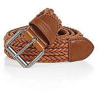 Light brown woven belt