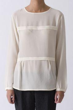 Pomandere Cream Silk Shirt