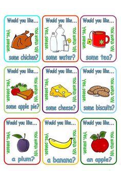Would you like a/some ...? + food