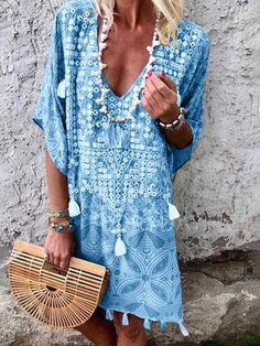 f966f18207 Justfashionnow Summer Dresses Vintage Dresses Holiday Half Sleeve Dresses  Boho Summer Dresses
