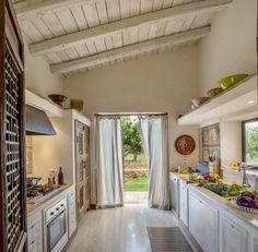 kitchen design at Donna Cecilia, luxury holiday villa in Sicily