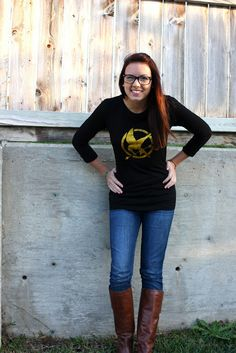 how to make your own hunger games shirt! :]