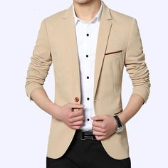>> Click to Buy << New Sales Top Men Slim Solid Blazers Men Long Sleeve Casual Jacket Gentleman Fashion Blazers High Quality Spring Autumn #Affiliate