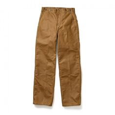 Oil Finish Double Tin Pant  No. 11014004  Straight leg pants with a double layer of water-repellent, abrasion-resistant oil finish Tin Cloth, bar tacking and double-needle construction  $215.00