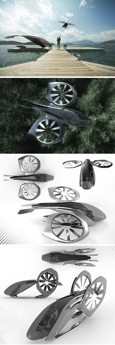 Sky2Go Represents the future of ride-sharing, this drone concept applies the Mercedes Benz design language to put passengers in the lap of luxury as they travel. The autonomous system makes it possible to pick up and drop off at precise locations and shortens travel distance and commuting time by avoiding busy roadways. #droneconcept