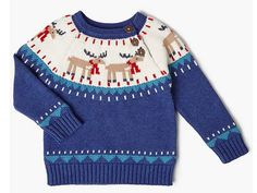Buy John Lewis Baby Reindeer Jumper, Blue from our Baby & Toddler Knitwear range at John Lewis & Partners. Free Delivery on orders over Christmas Tops, Christmas Jumpers, Christmas 2017, Christmas Ideas, Cute Boy Outfits, Kids Outfits, Baby Fair, John Lewis Baby, Models