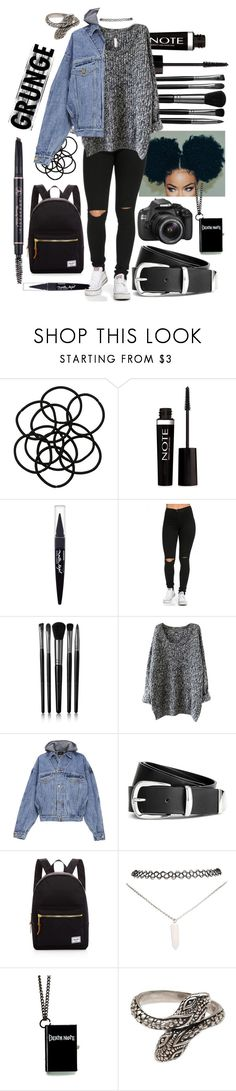 """Untitled #628"" by the-fashion-fantasy ❤ liked on Polyvore featuring Monki, Forever 21, Maybelline, Illamasqua, Fear of God, H&M, Herschel Supply Co., Wet Seal, Eos and NOVICA"