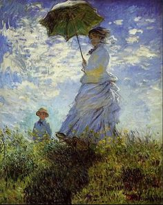 Classic Monet-Women with Umbrella