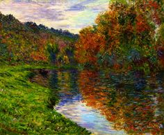 Arm of the Jeufosse, Autumn ~ Claude Monet
