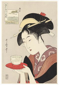 Appearing Again: Naniwaya Okita by Utamaro (1750 - 1806)