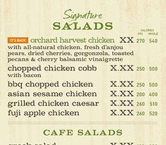 MyPanera Article:  On the Menu: The Info You Need