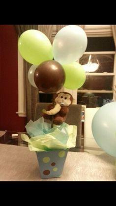 Monkey theme baby shower centerpiece
