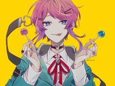 Division All Stars ヒプノシスマイク(Matenrou Hypnosis Mic) HypMic (ヒプマイ) Anime Oc, Kawaii Anime, Battle Rap, Character Art, Character Design, Pink Hair Anime, Anime Music, Music Music, Handsome Anime Guys