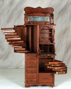 Antique dental cabinet ~ make a wonderful drawing desk....