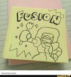 """Yes, Garnet. """"Fusion."""""""