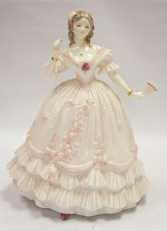 Royal Worcester Lady Figurine The Masquerade Begins Made in England | eBay