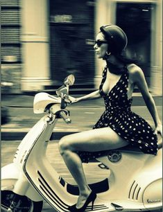 """""""Life is a journey. Enjoy the ride."""" - """"This is Your Quest. The book itself is a journey, and Reed excels at holding the hand of her gue - Vintage Vespa, Motos Vintage, Piaggio Vespa, Lambretta Scooter, Vespa Scooters, Vespa Girl, Scooter Girl, Girl Bike, Moto Design"""