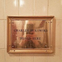 Charles Bukowski - http://213nightlife.com/spirit-guide-charles-bukowksi-pissed-here-by-max-seaman