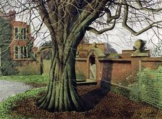 """The Garden Gate, Glyndebourne"" by Simon Palmer (ink, watercolour and gouache)"