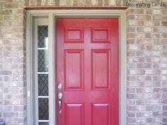 Decorating Cents: A Red Front Door. Cinnamon Cherry by Behr