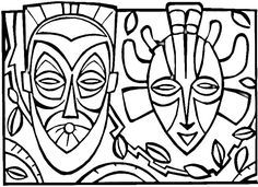 ceramic coloring for children | SPACE ART: African Mask History & Activities for Kids!