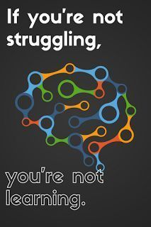If you're not struggling, you're not learning