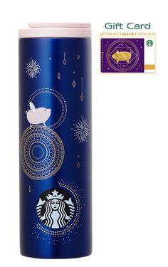 New Starbucks 2018 China Mid Autumn Day Walk The Milky Way Coffee Bean 12oz Mug