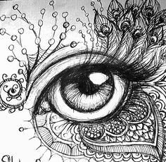 bleistift bleistiftYou can find Eyelashes and more on our website. Doodle Art Drawing, Zentangle Drawings, Pencil Art Drawings, Art Drawings Sketches, Cool Drawings, Aztec Drawing, Mandala Art, Mandala Drawing, Eyes Artwork