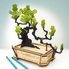 flat packed pine bonsai tree kit by pack & tickle   notonthehighstreet.com