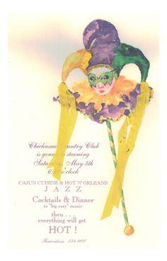 Kings Fool Jester Invitation from Odd Balls Party Invitations