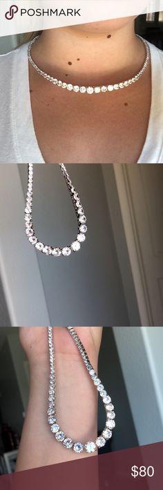 4e6d22b16aa87 13 Best tennis necklace images in 2017 | Jewelry, Diamond, Diamond ...