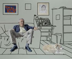 portraits by Ben Hughes, in article January 2013 Installation Art, Art Installations, Multimedia Arts, Environmental Portraits, Artist Card, Portrait Images, A Level Art, Art Logo, Dog Art